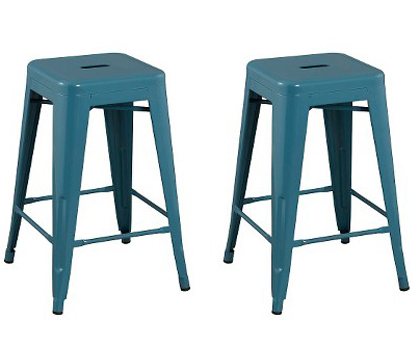 Carlisle Metal Teal Counter Stools Everything Turquoise