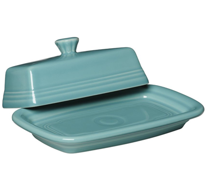 Fiesta Turquoise X-Large Covered Butter Dish