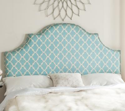 Safavieh Hallmar Blue & White Arched Headboard