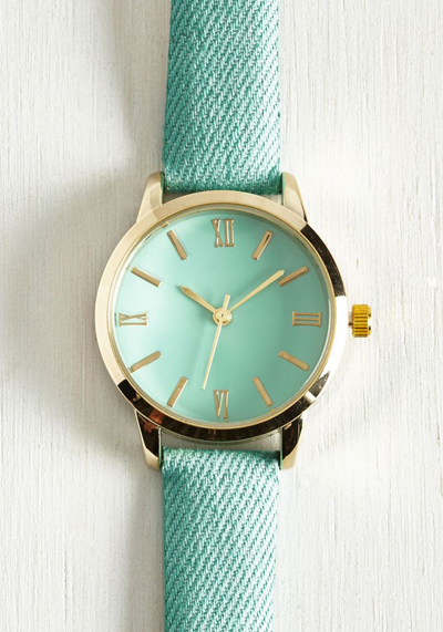 Turquoise Fabric Watch