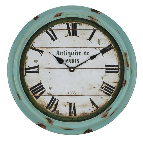 Anthea Aged Sea Green Clock