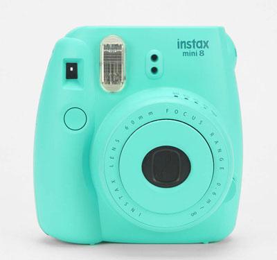 Fujifilm X UO Turquoise Mini 8 Instax Camera