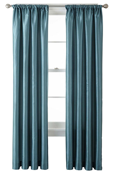 Gallery Taffeta Rod-Pocket Curtain Panel