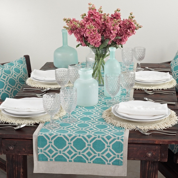 Geo Design Aqua Runner Everything Turquoise