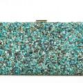 Howlite Turquoise Box Clutch