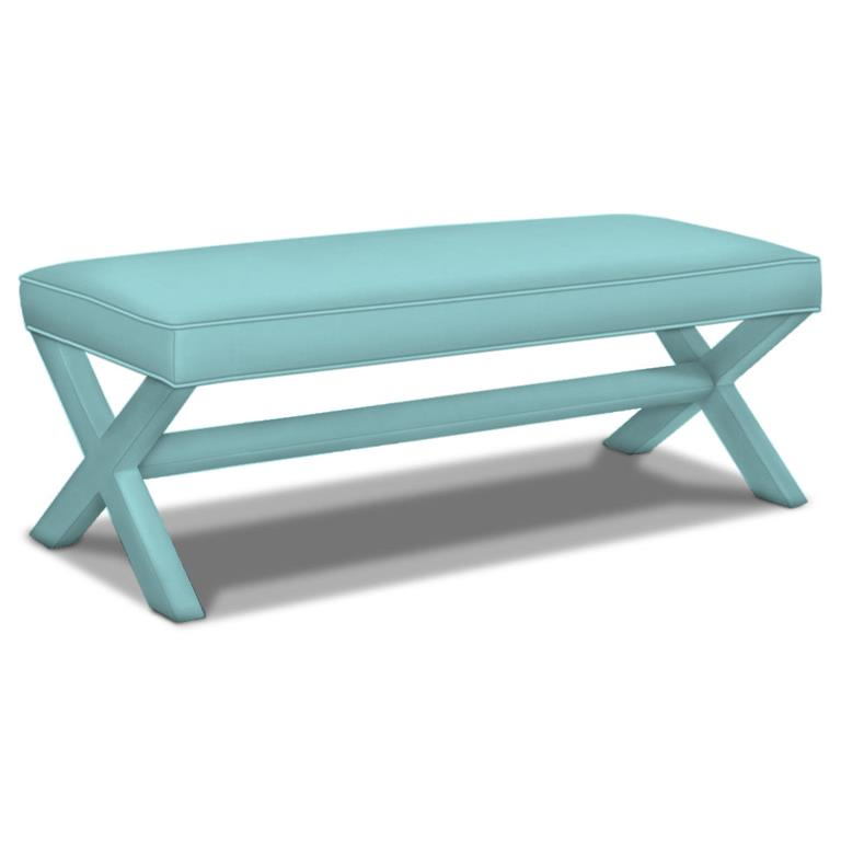 Jonathan Adler Double X Bench Everything Turquoise