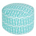 Turquoise Anchorage Indoor/Outdoor Pouf