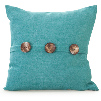 Chelsea Textured Weave Button Pillow