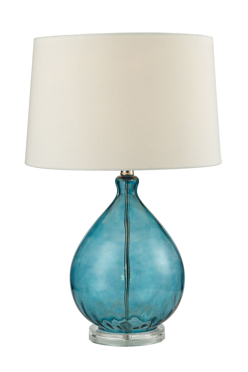 Dimond Wayfarer Glass Teal Table Lamp