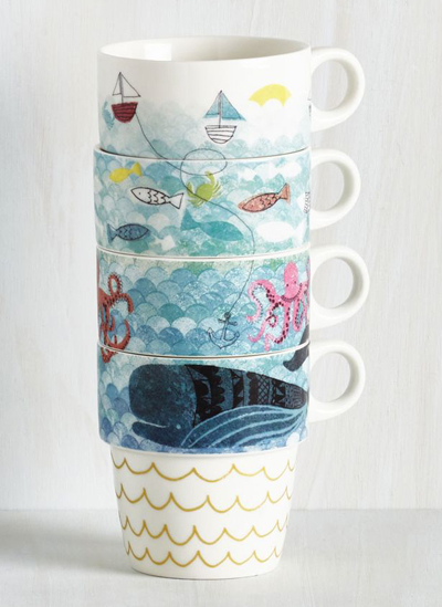Door's Always Ocean Mug Set