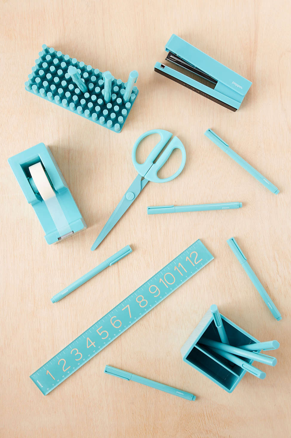 Poppin Turquoise Desk Accessories