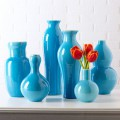 Set of 6 Aquamarine Vases