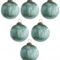 Aqua Classy & Glassy Ornaments