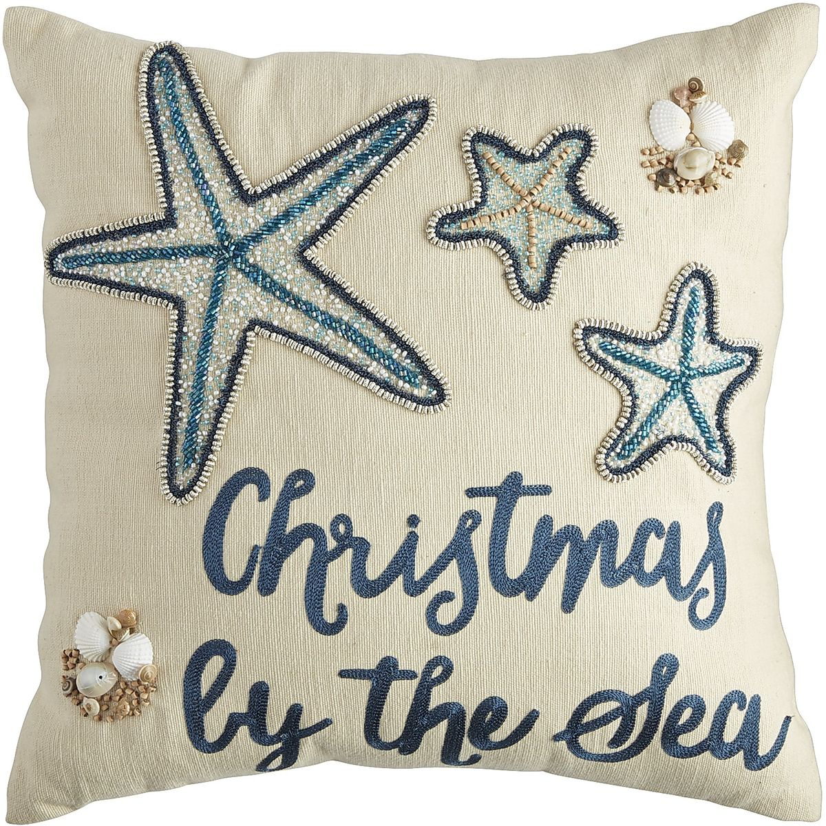 Coastal Christmas by the Sea Pillow