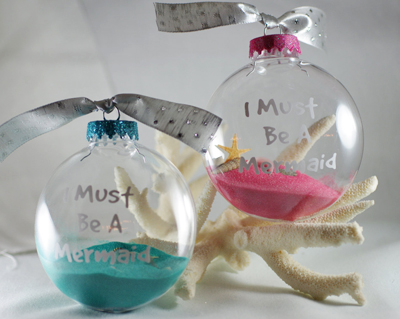 I Must Be A Mermaid Christmas Ornament