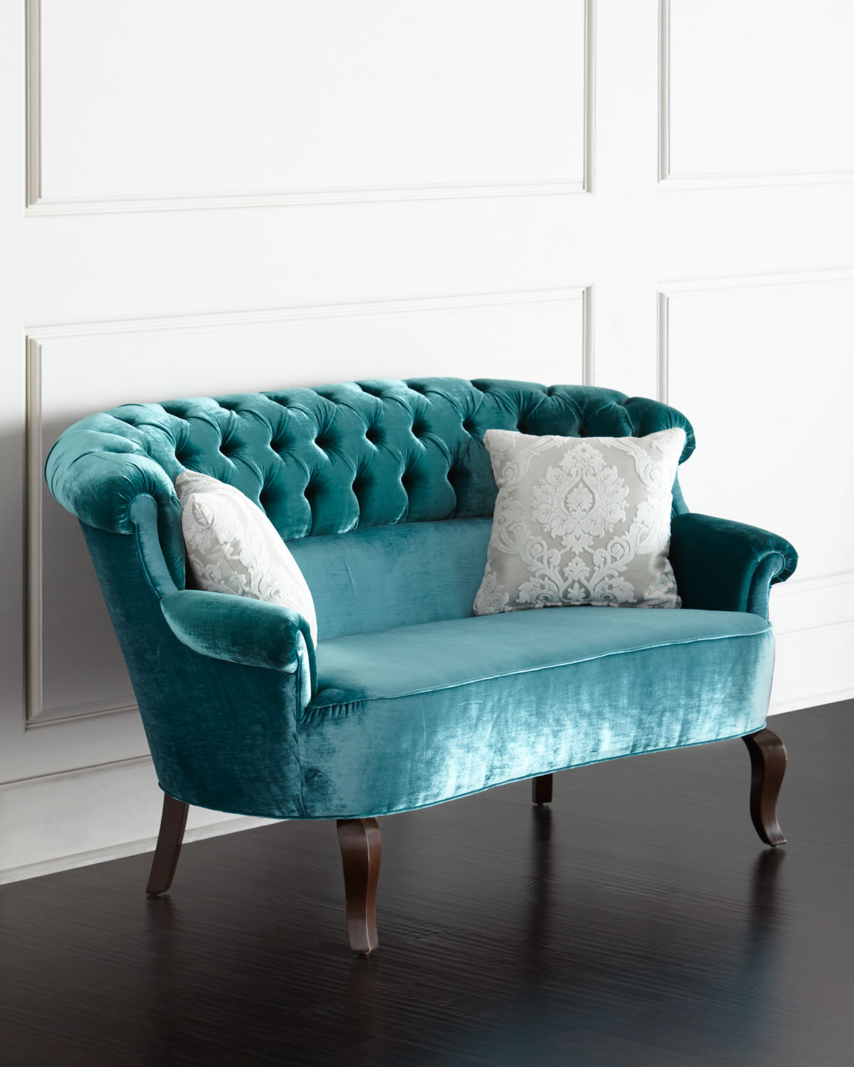 Turquoise lulu tufted settee everything turquoise for House of haute