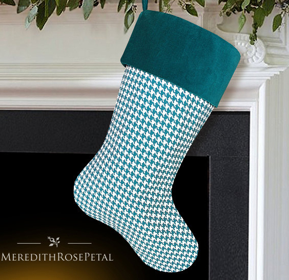 Turquoise Christmas Stocking