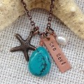 Turquoise Sea Soul Necklace With Charms