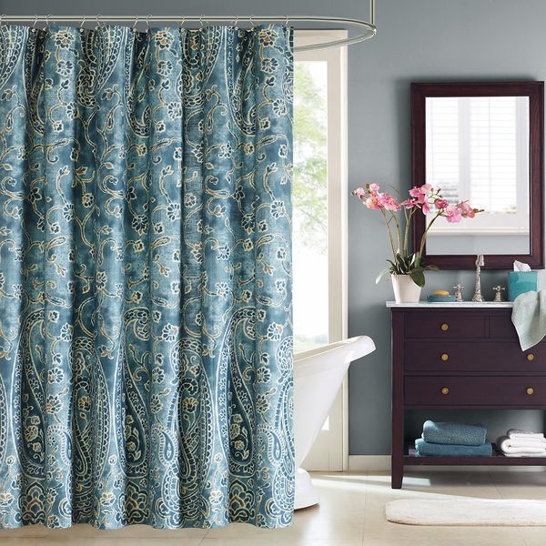 Windsor Fabric Shower Curtain Everything Turquoise