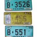 Decorative License Plates From Panama