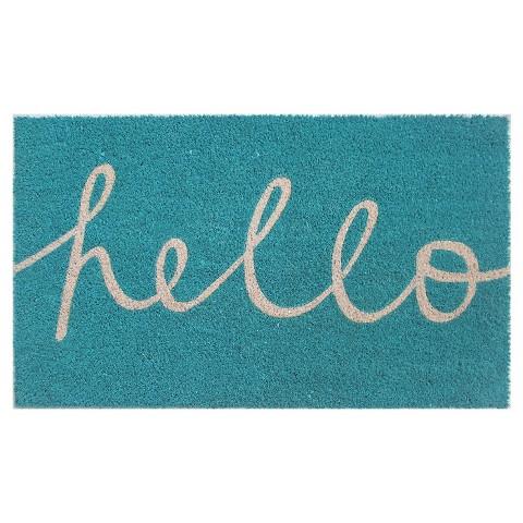 Hello Cursive Doormat