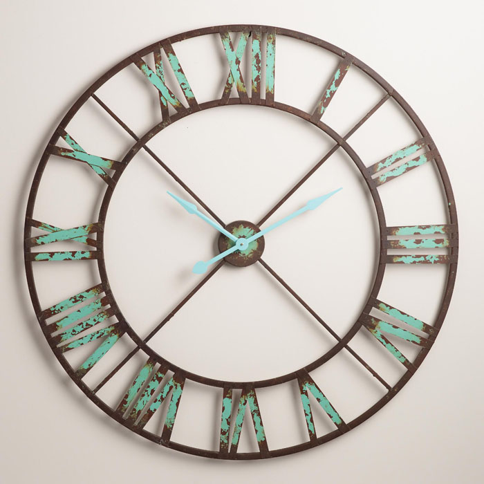 Industrial Reed Wall Clock