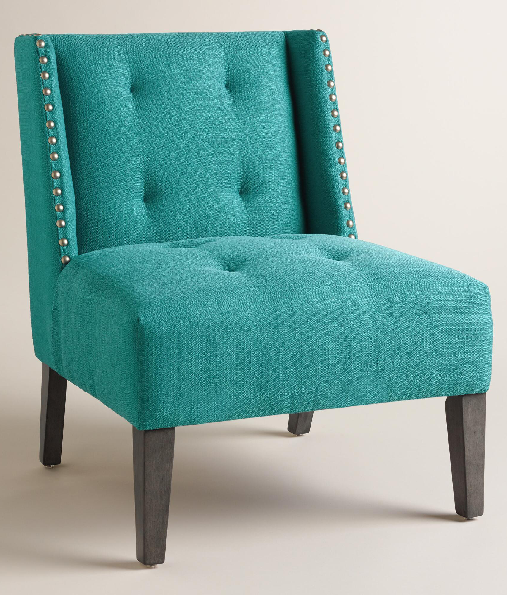 Peacock blue carlin wingback chair everything turquoise for Comfortable wingback chair
