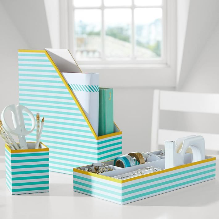 Printed Stripe Desk Accessories
