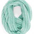 Scribble Loop Knit Infinity Scarf