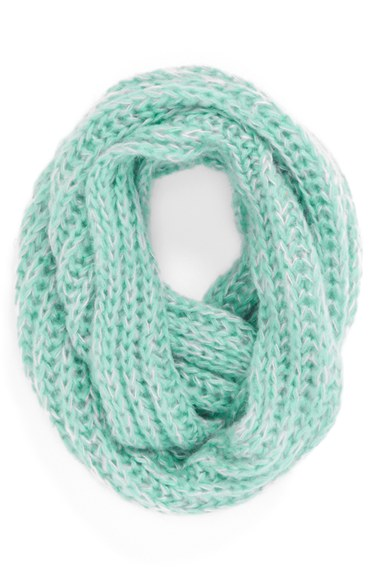 Scribble Loop Knit Infinity Scarf