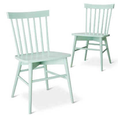 Windsor Dining Chair Set in Mint