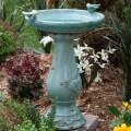 Alpine Antique Light Turquoise Ceramic Bird Bath