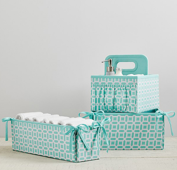 Aqua Blue Geo Nursery Storage