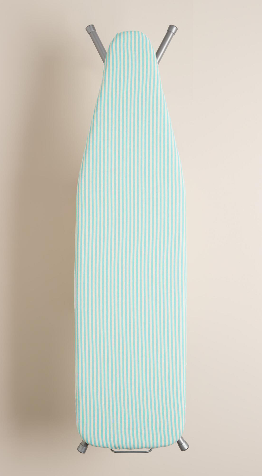 Aqua Ticking Stripe Ironing Board Cover