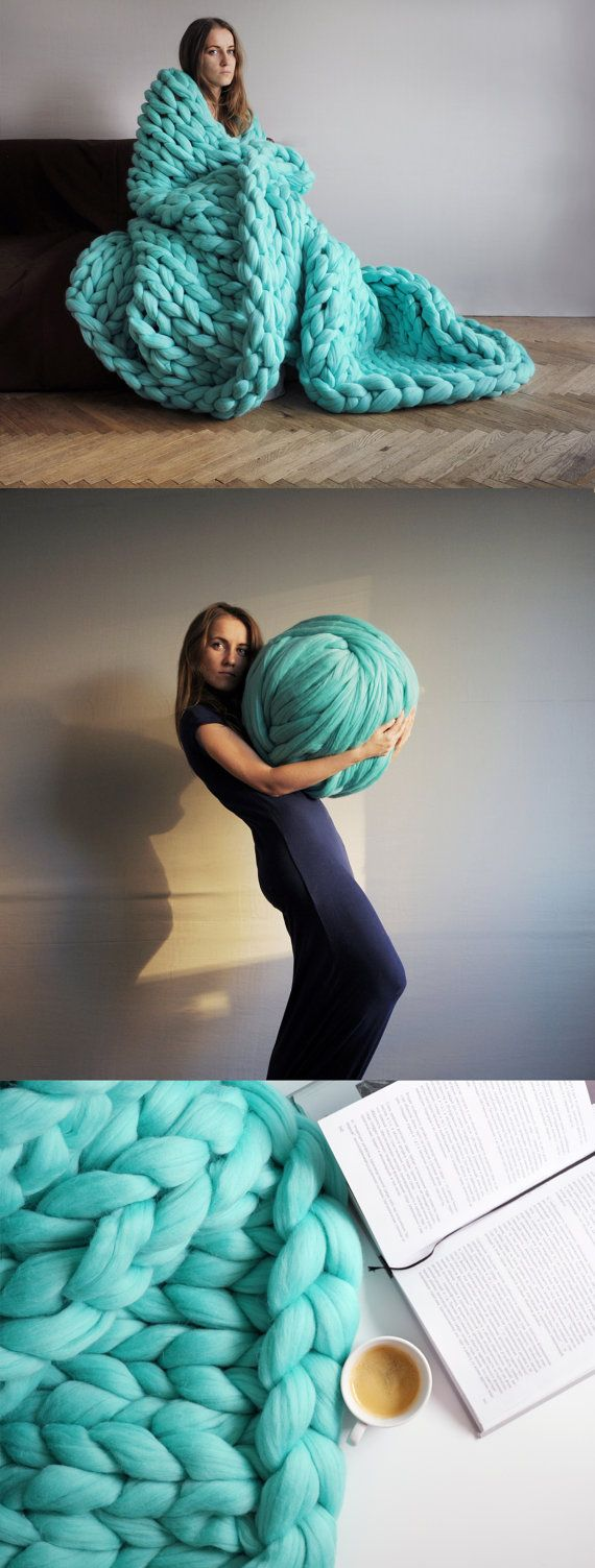 Giant Knitting With Arms : Diy arm knitting merino wool from ohhio everything turquoise