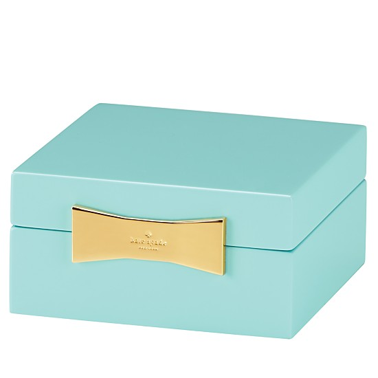 Kate Spade Turquoise Garden Drive Square Jewelry Box
