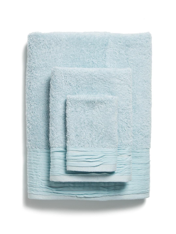 Light Blue Pleated Towel Set