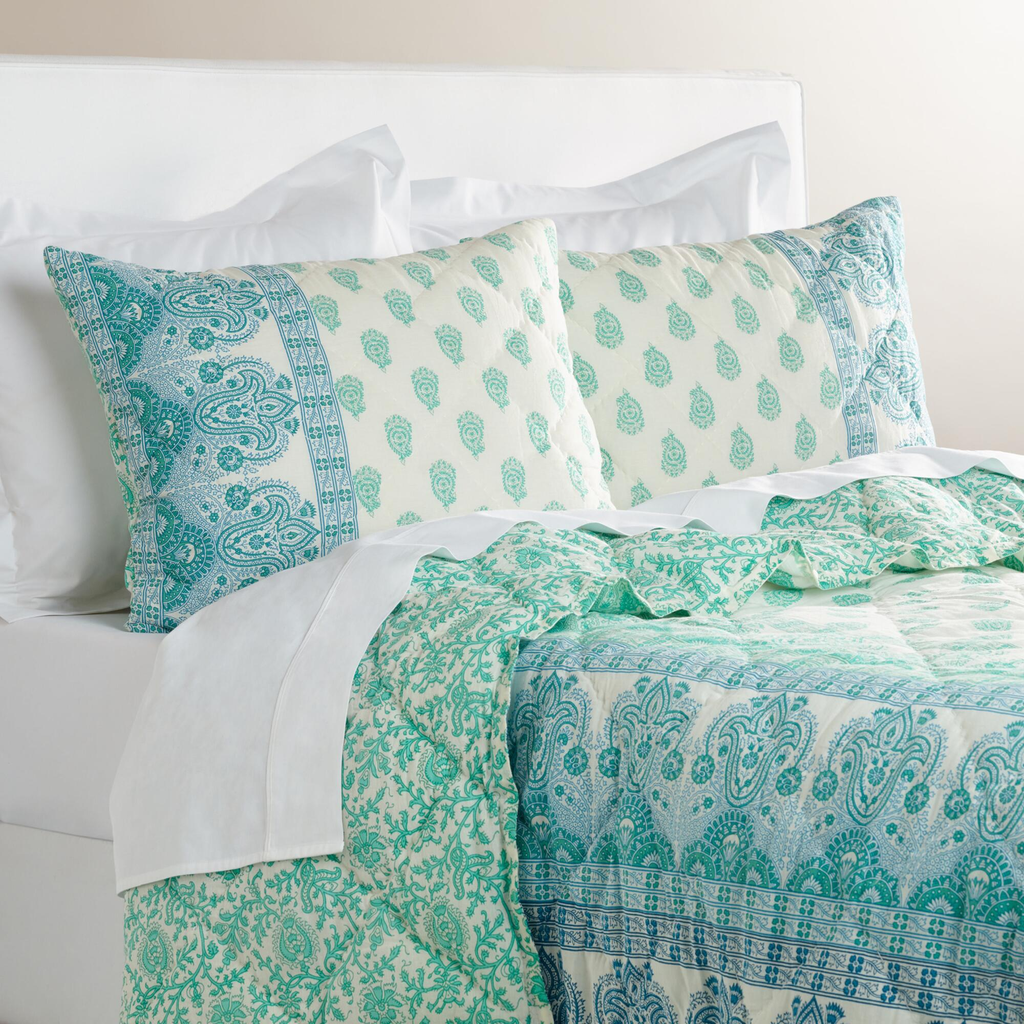 Blue and green paisley bedding - Brown And Turquoise Paisley Bedding Bedroom Decor Gallery