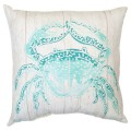 Turquoise Crab Outdoor Pillow
