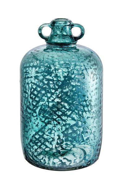 Turquoise Mercury Glass Bottle