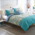 Watercolor Damask 5-Piece Bedding Comforter Set