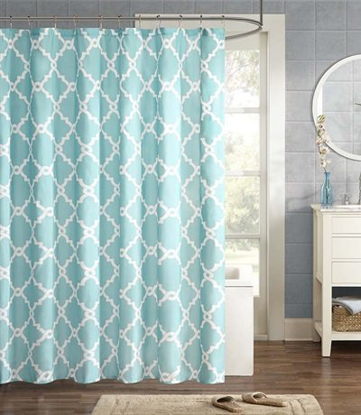 Merritt Aqua Shower Curtain