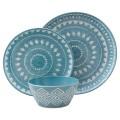 Mosaic Design 12 Piece Dinnerware Set