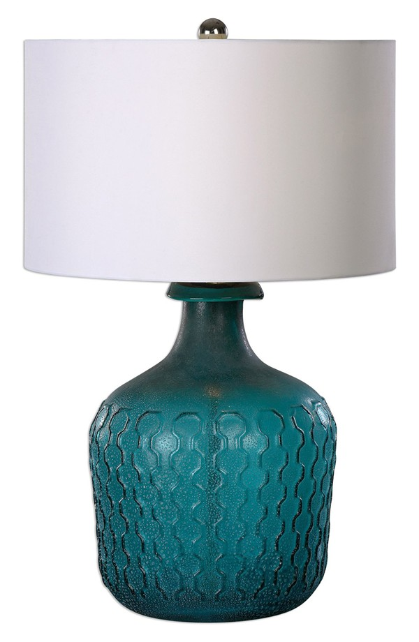 Uttermost Laval Blue Glass Table Lamp