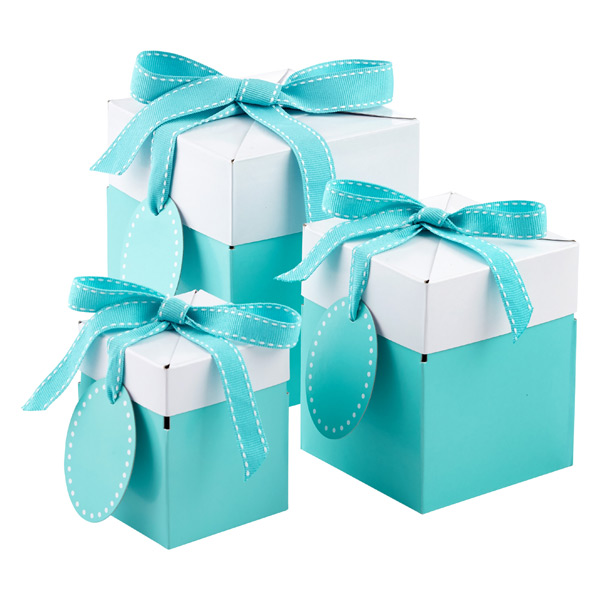 Aqua Pop-Up Gift Boxes