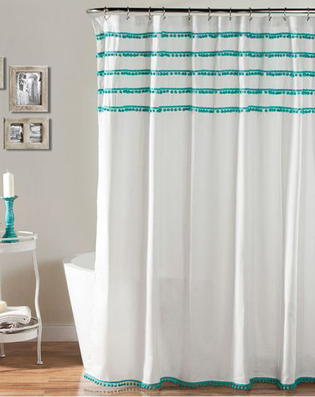 Martinkeeisme 100 Aqua And White Shower Curtain Images