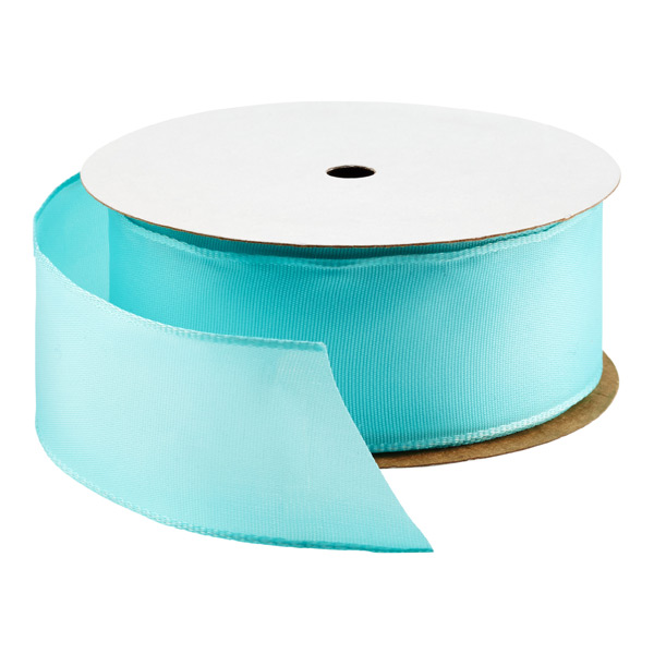 Bright Aqua Wired Ribbon