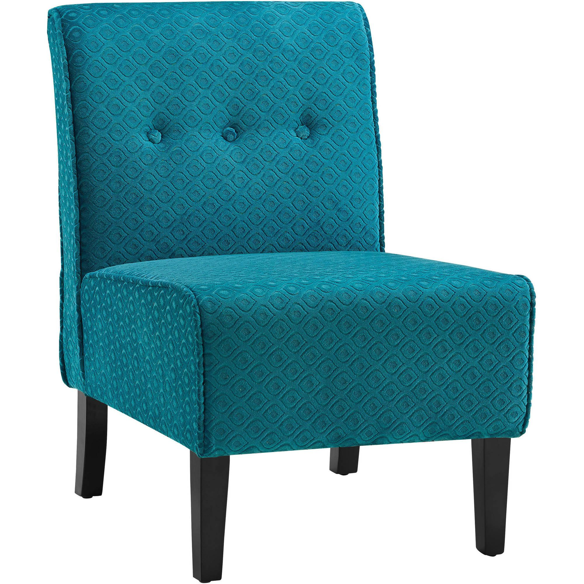 Blue Accent Chair: Coco Teal Blue Accent Chair