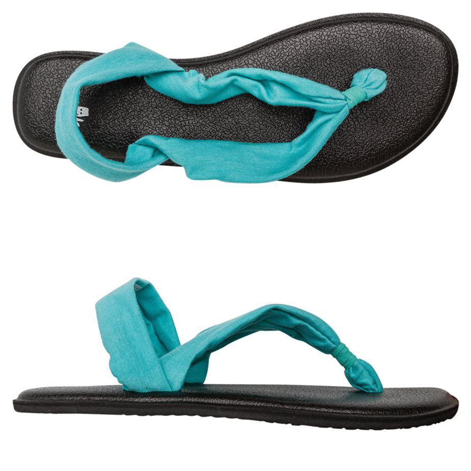 Sanuk Triangle Yoga Mat Sandals Everything Turquoise