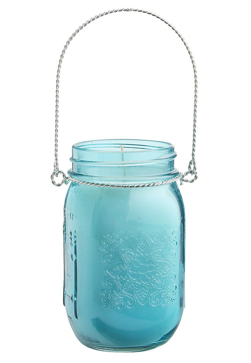 Turquoise Citronella Mason Jar